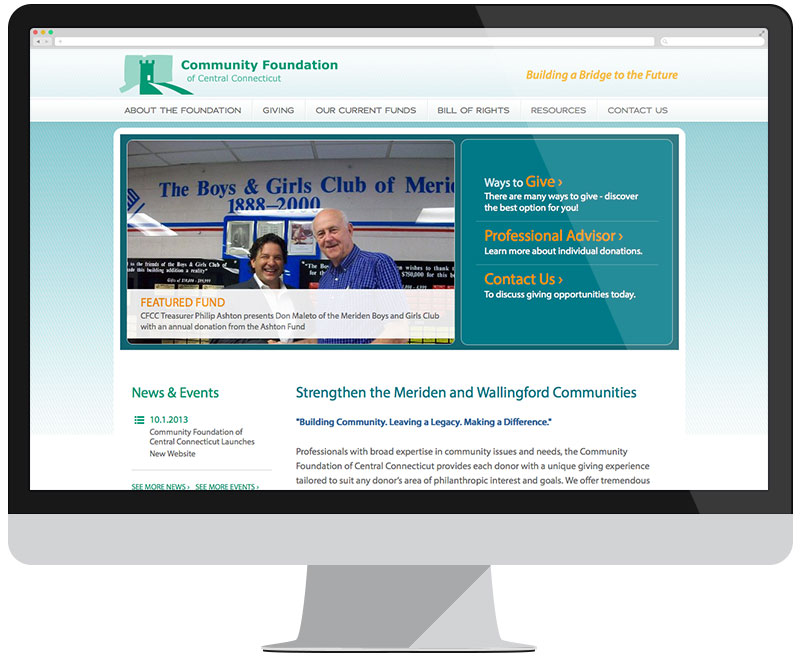 Community Foundation of Central Connecticut home page