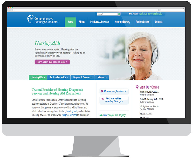 Comprehensive Hearing Center home page