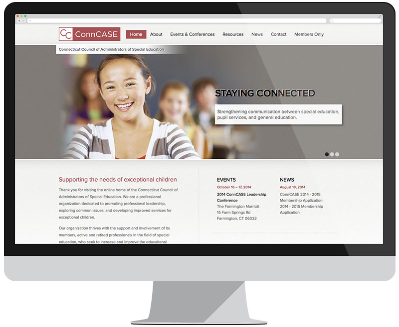 ConnCASE home page
