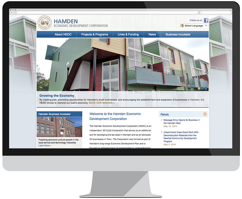 Hamden Economic Development Corporation home page