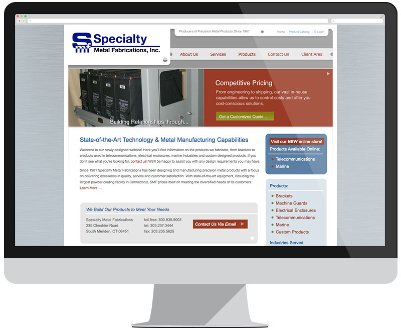 Specialty Metal Fabrications home page