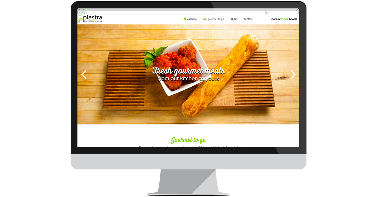 La Piastra's New Website by Web Solutions