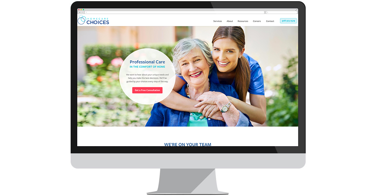 Homecare Choices' New Website by Web Solutions