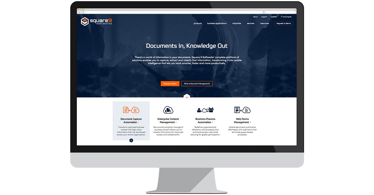 Square 9 Softworks' New Website by Web Solutions
