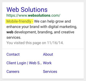 Web Solutions Mobile Tag