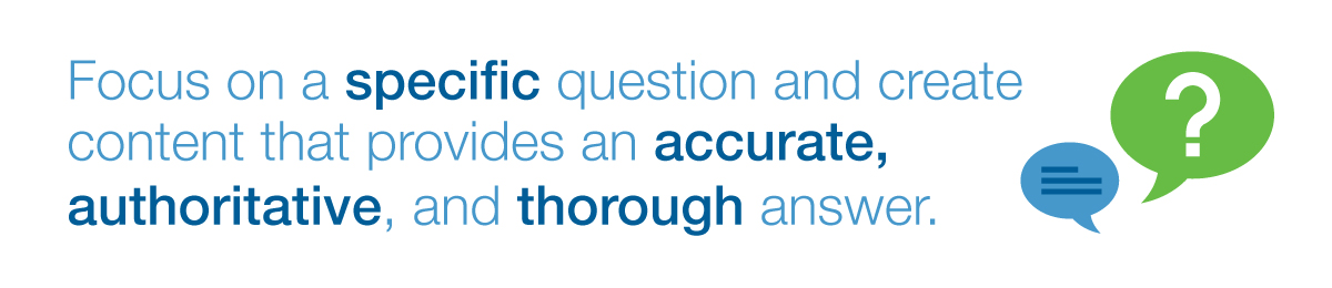 Focus on a specific question and create content that provides an accurate, authoritative, and thorough answer.
