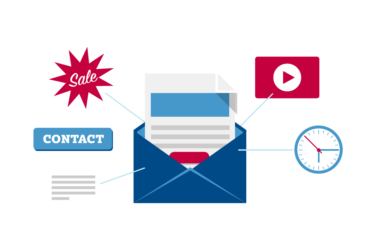 Boost email click through rates graphic