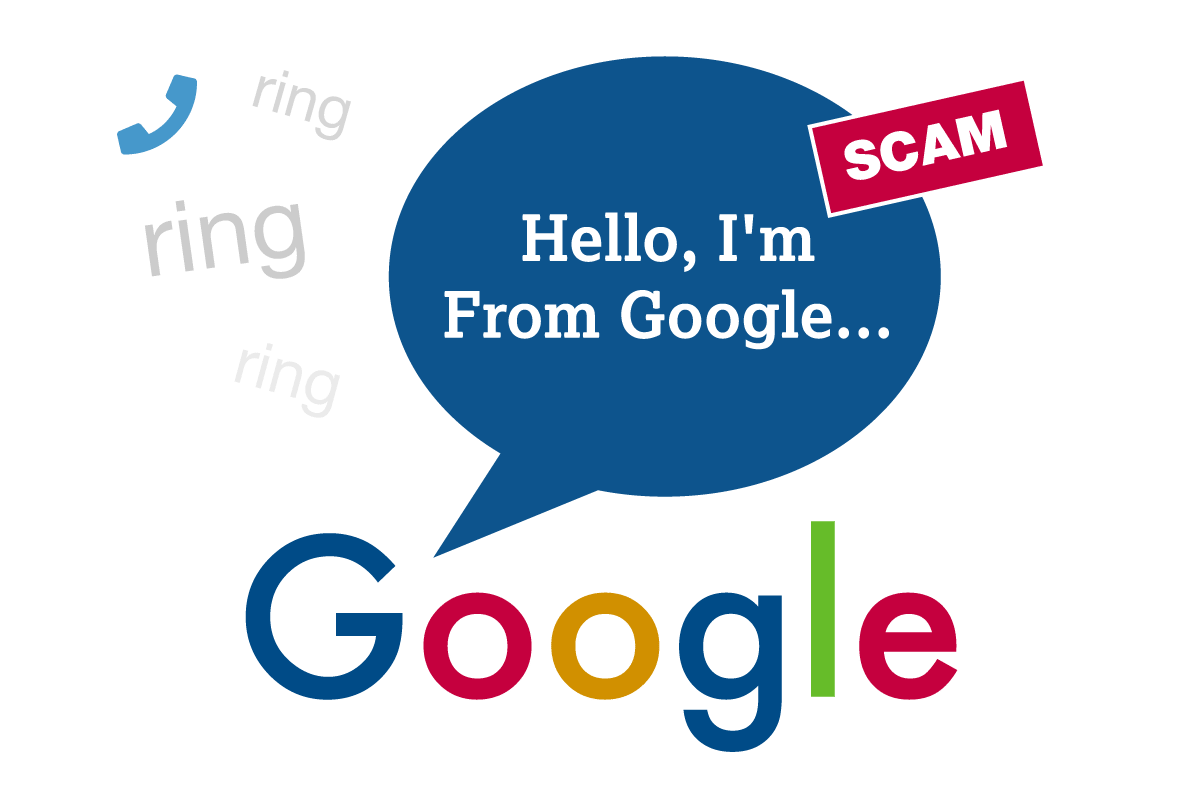 Google Scam graphic