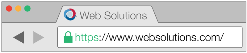 Secure address bar