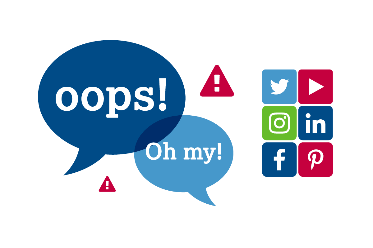 social media mistakes graphic