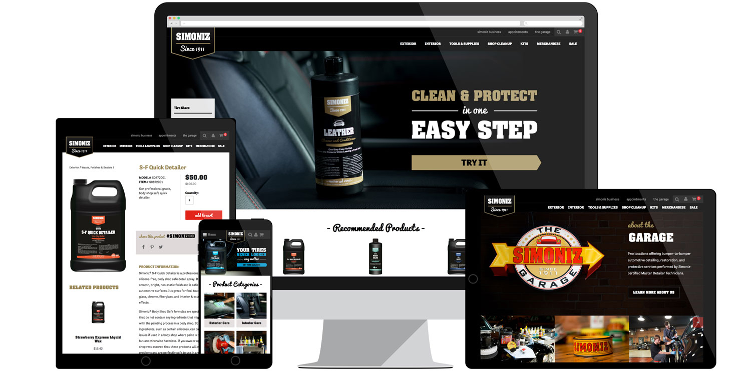 Web design for Simoniz