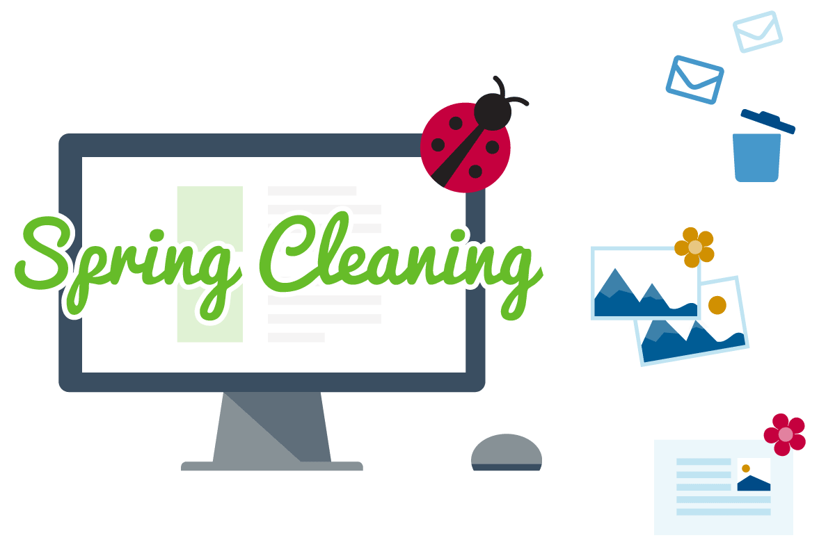 spring clean marketing 2018 graphic