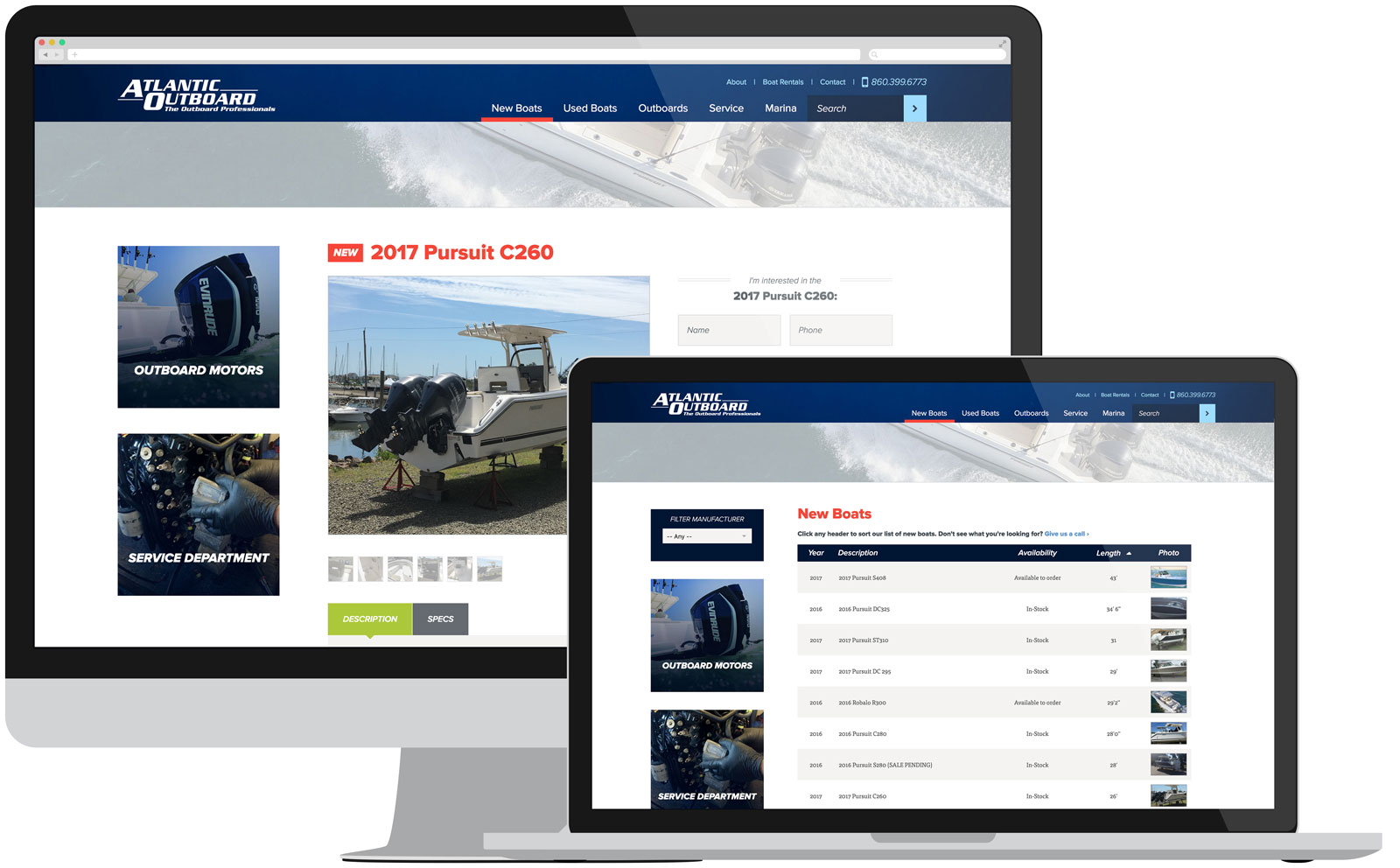 Atlantic Outboard Product Pages