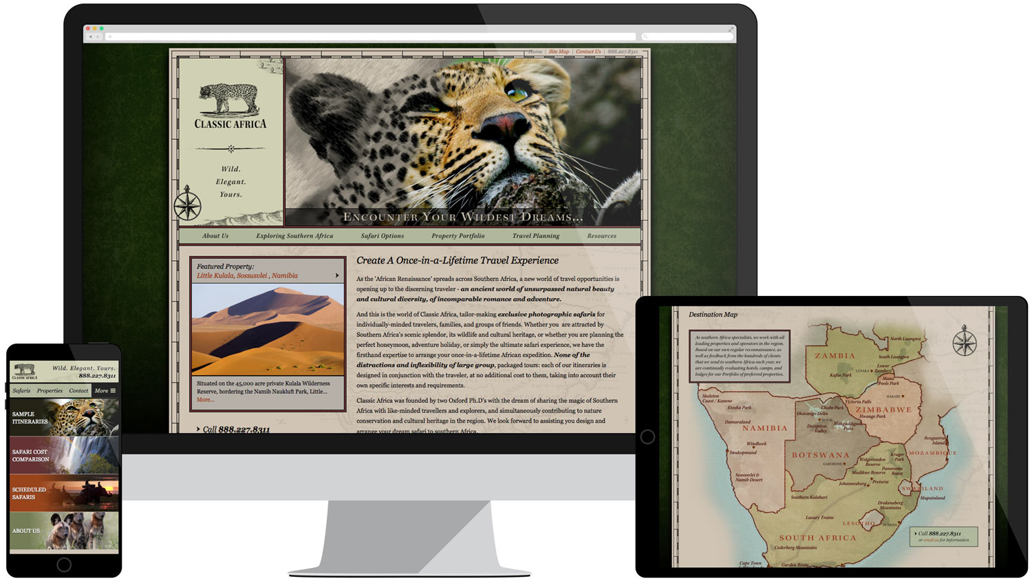 Web design for Classic Africa