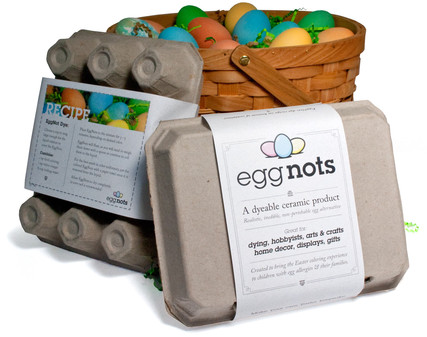 Graphic design for EggNots packaging