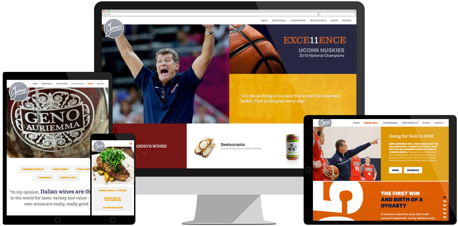 Geno Auriemma website