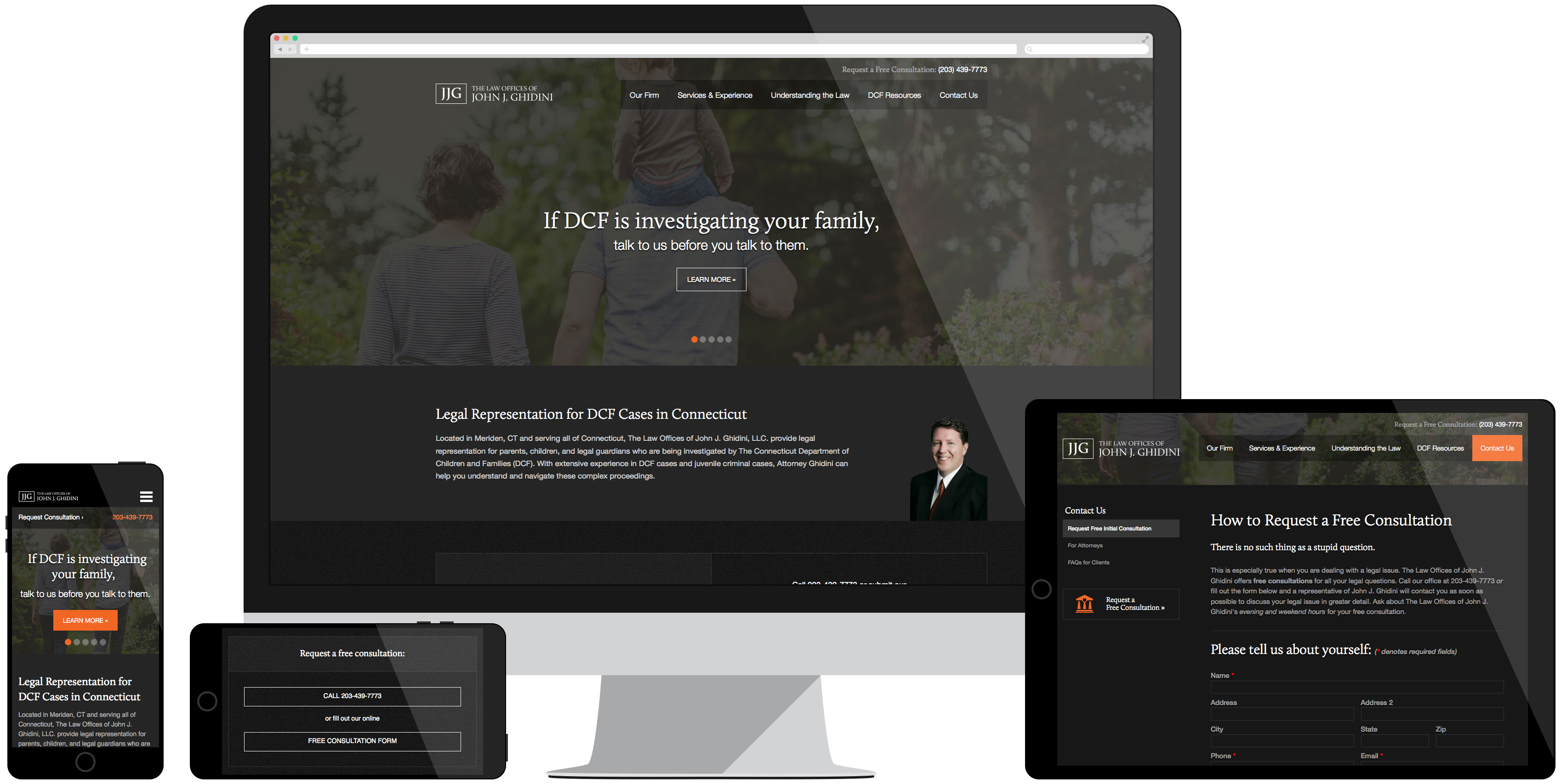 John Ghidini Website Development