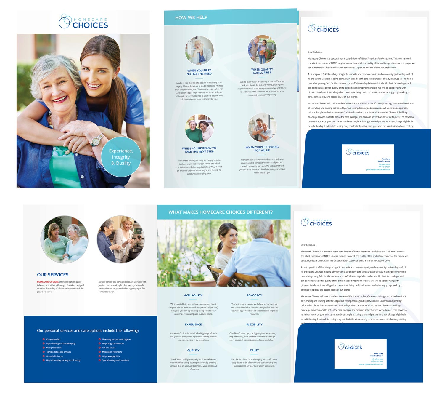 Homecare Choices Brochure and Folder