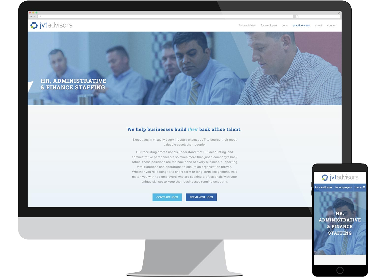 Landing Page - HR, Administrative & Finance Staffing