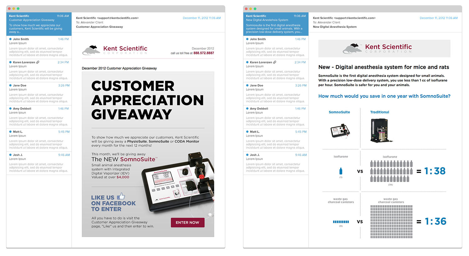 Email marketing for Kent Scientific