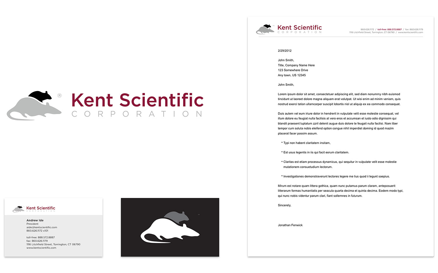 Identity design for Kent Scientific