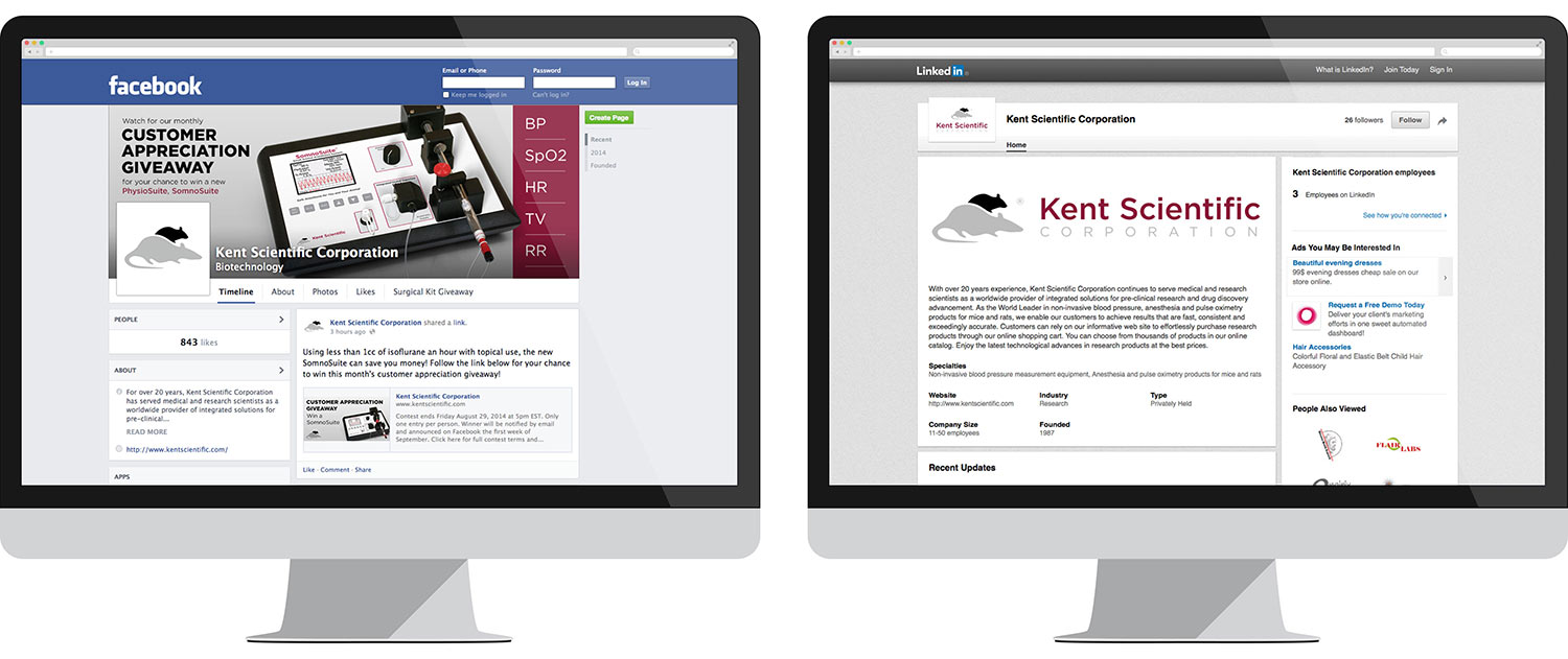 Social media marketing for Kent Scientific