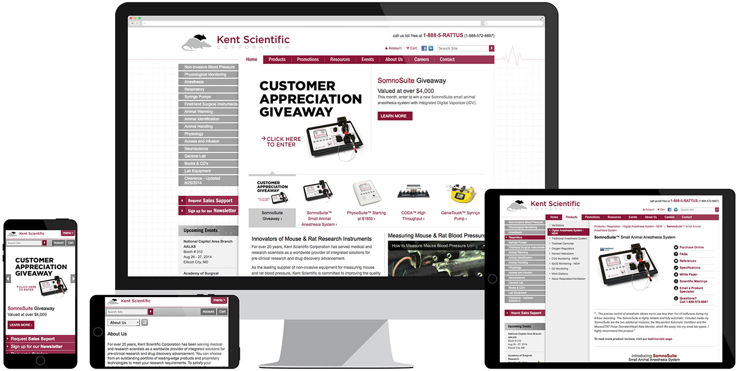 Website development for Kent Scientific