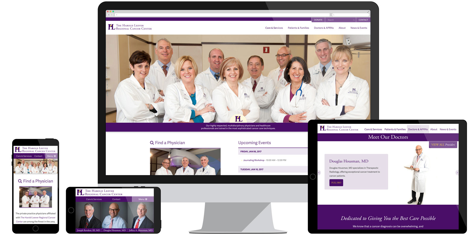 Harold Leever Regional Cancer Center Website