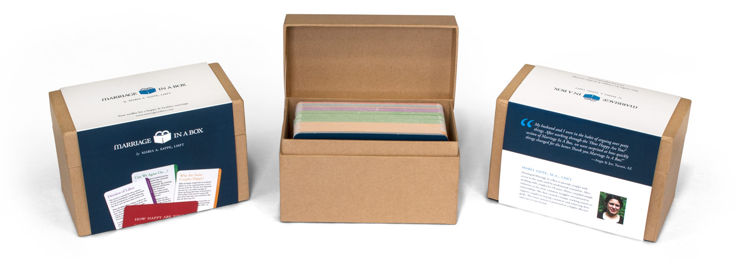 Product packaging design for Marriage In A Box
