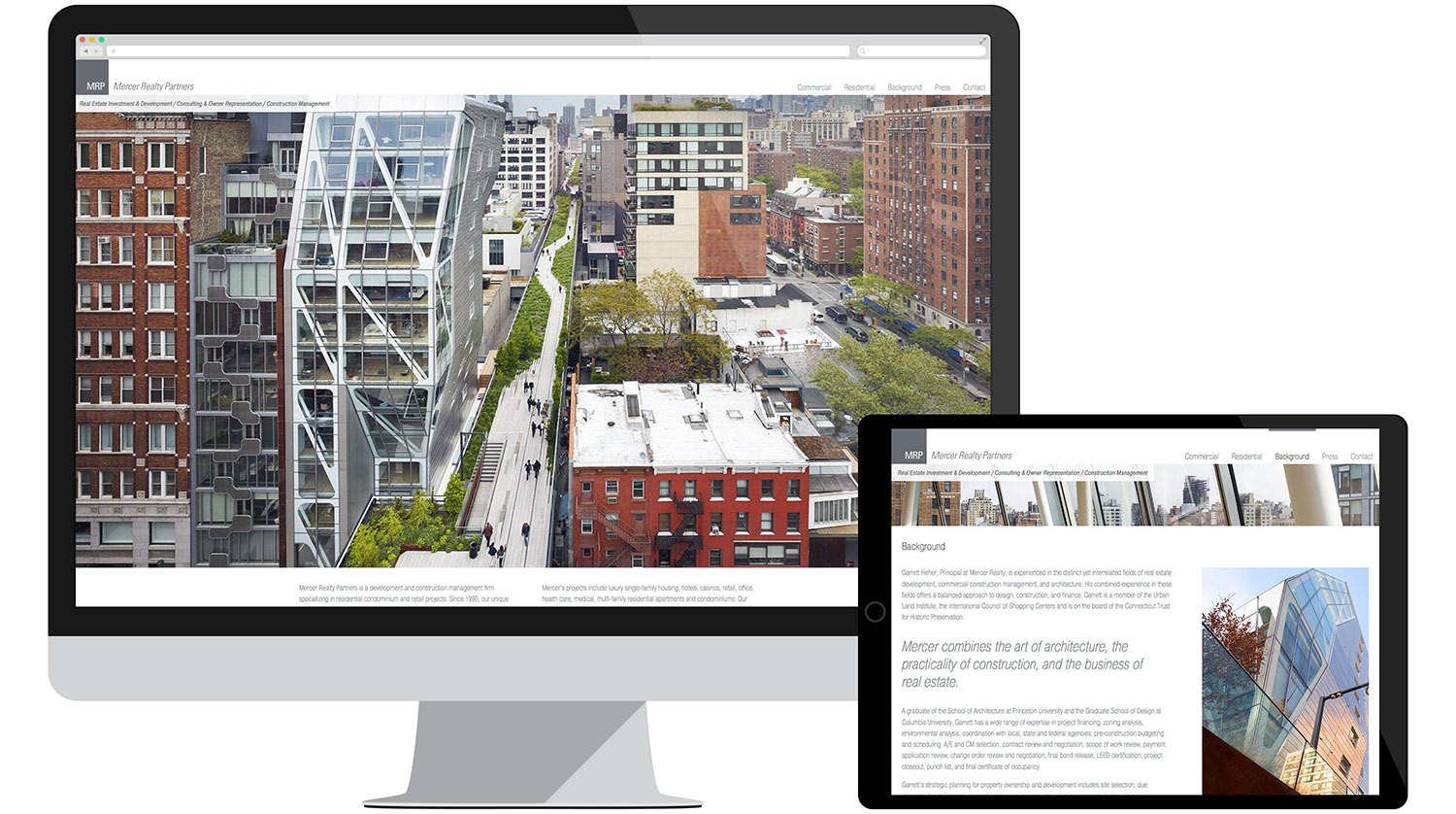 Website development for Mercer Realty