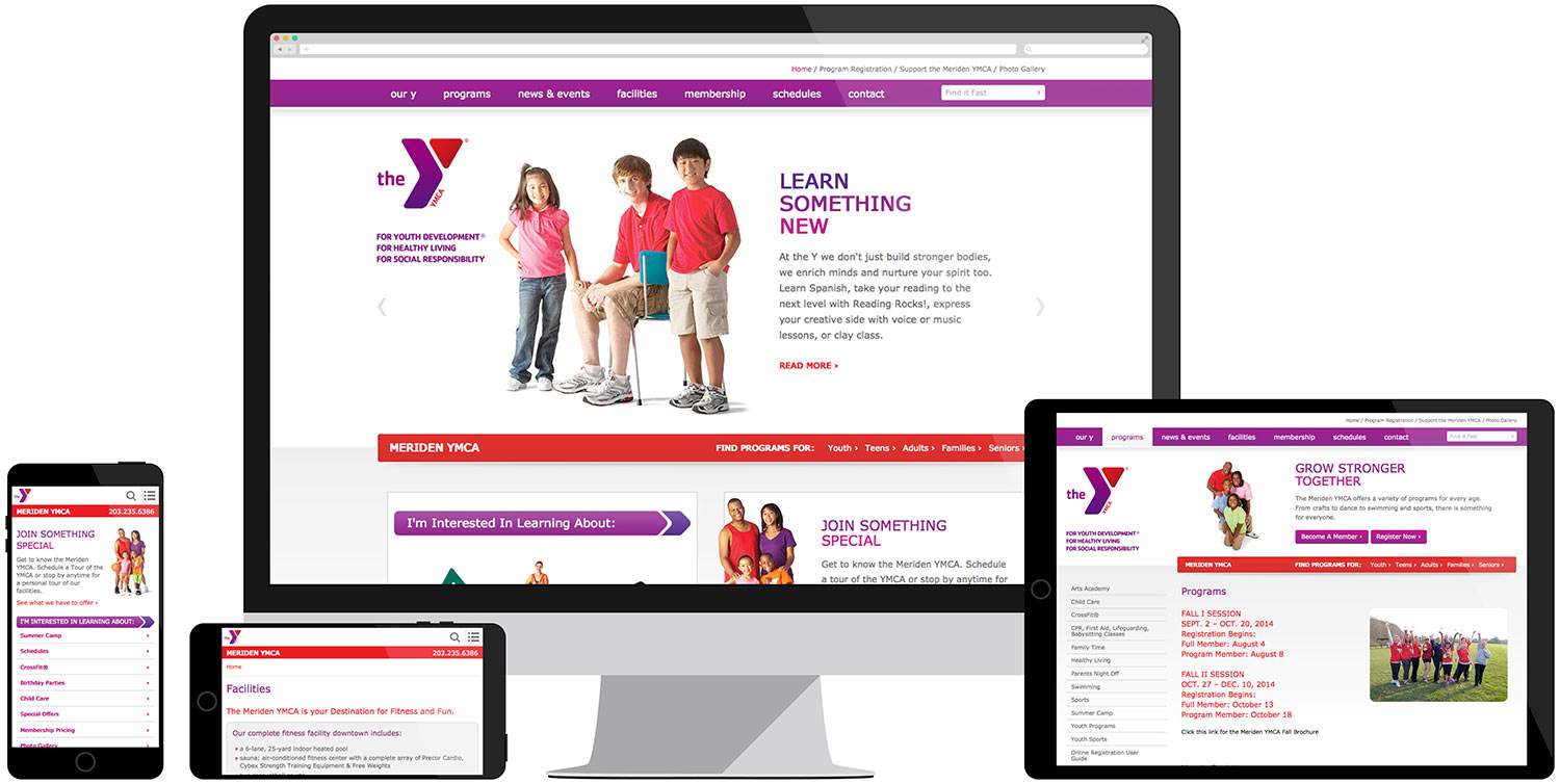 Web development for Meriden YMCA