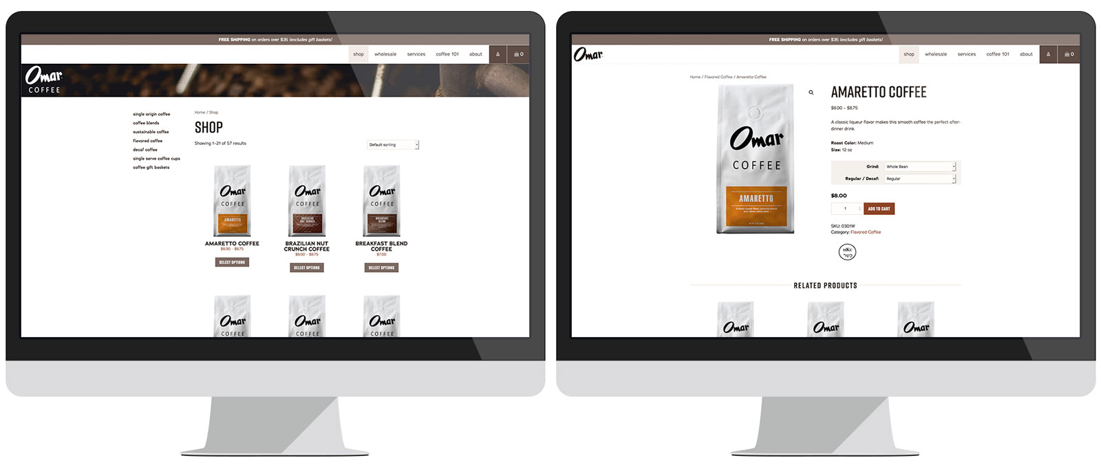 Omar Coffee eCommerce
