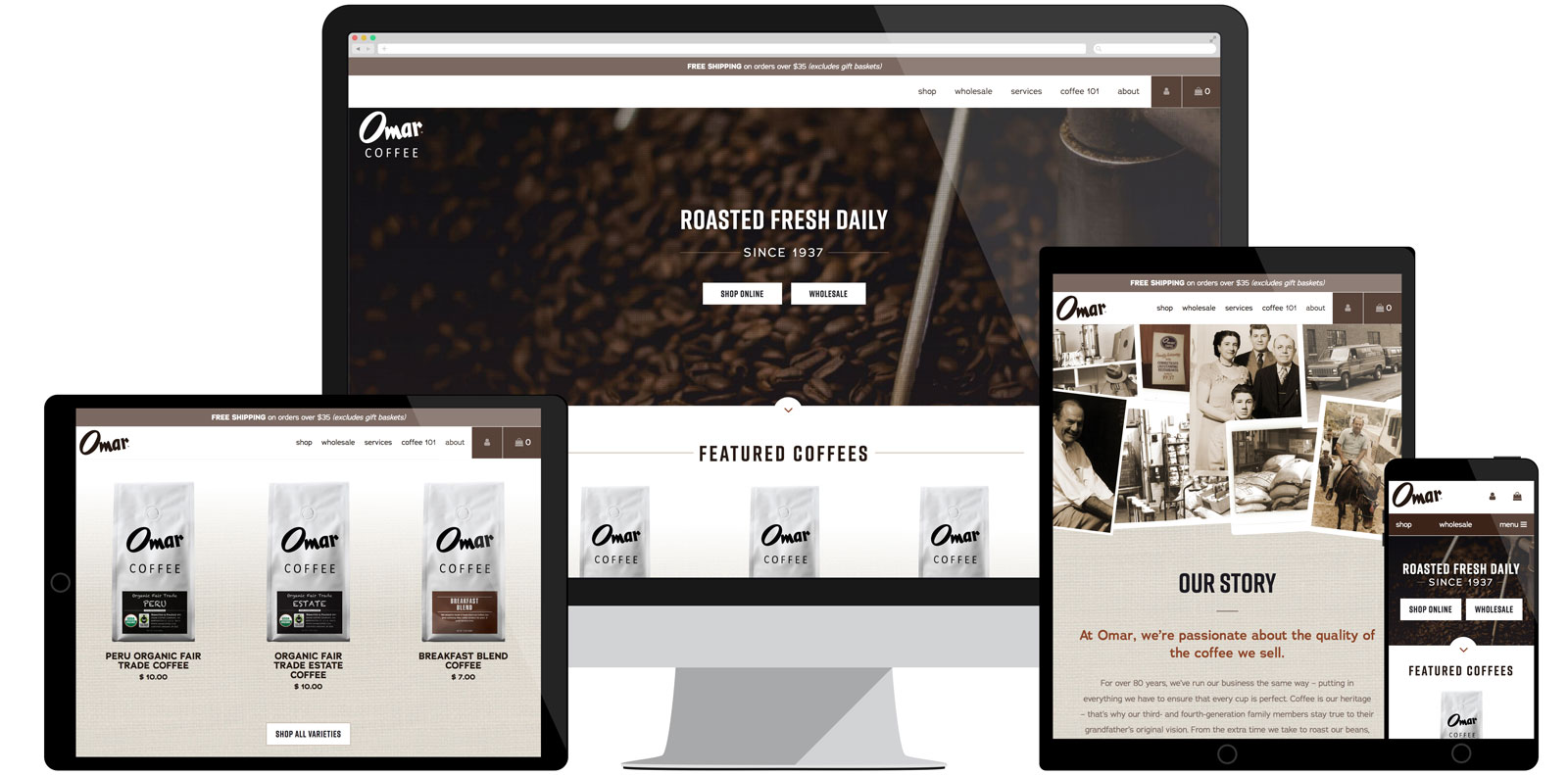 Omar Coffee Website