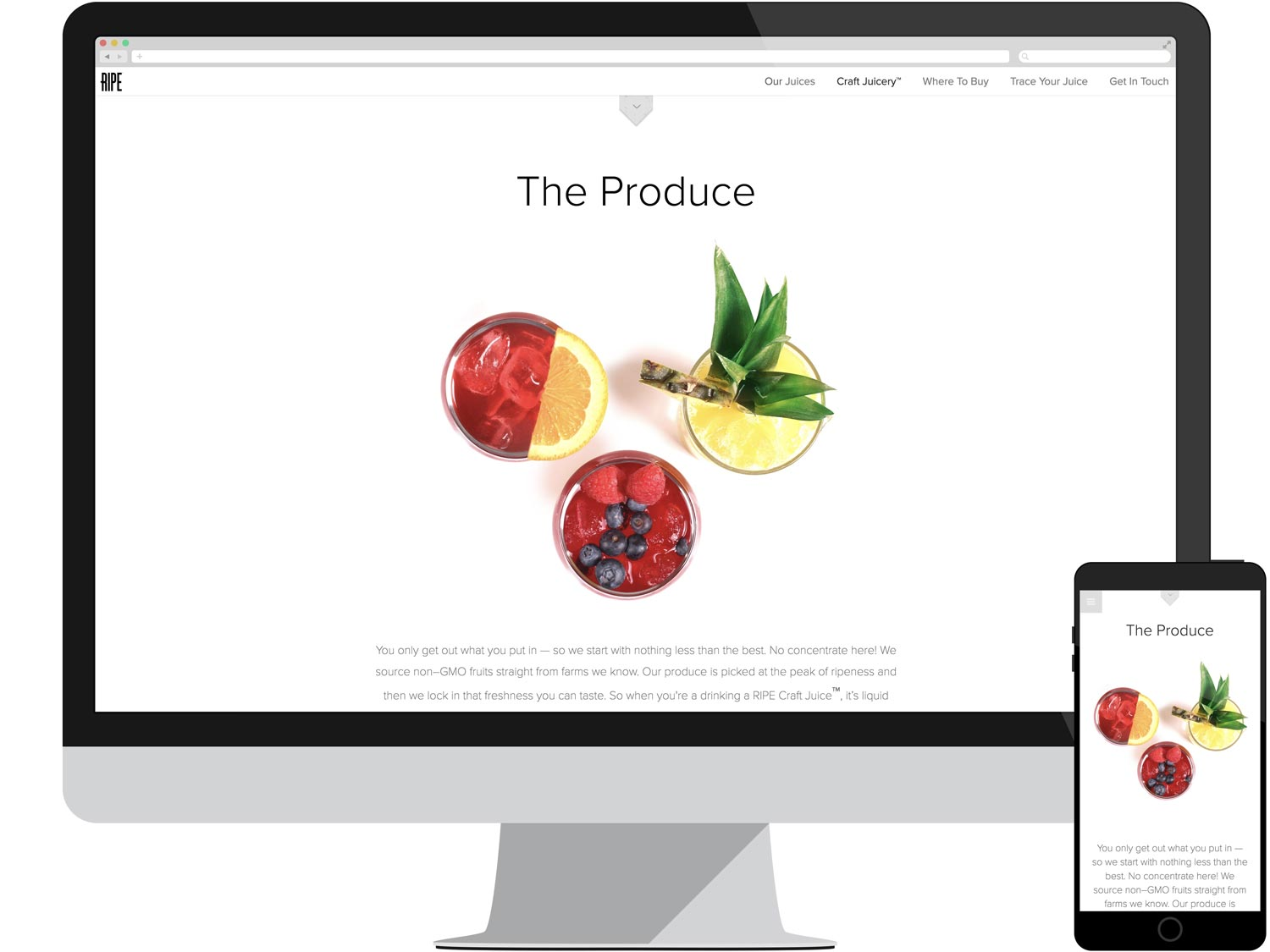 Juicery Landing Page - The Produce