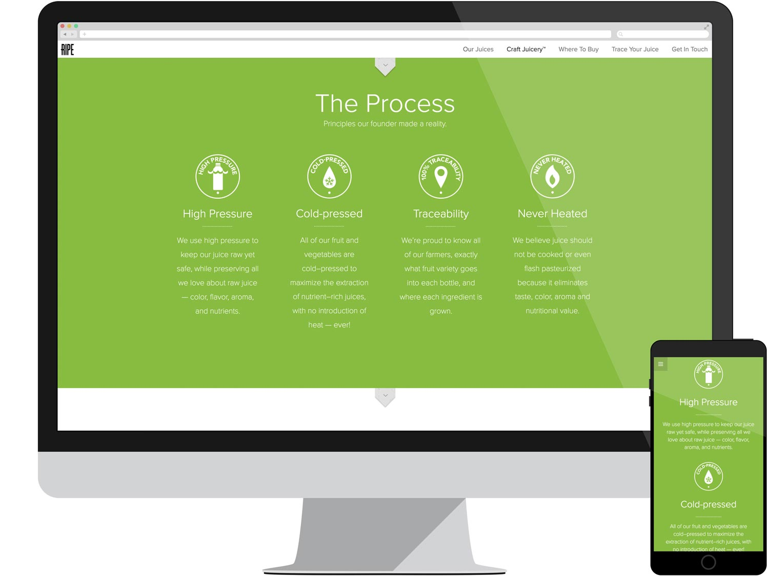 Juicery Landing Page - The Process