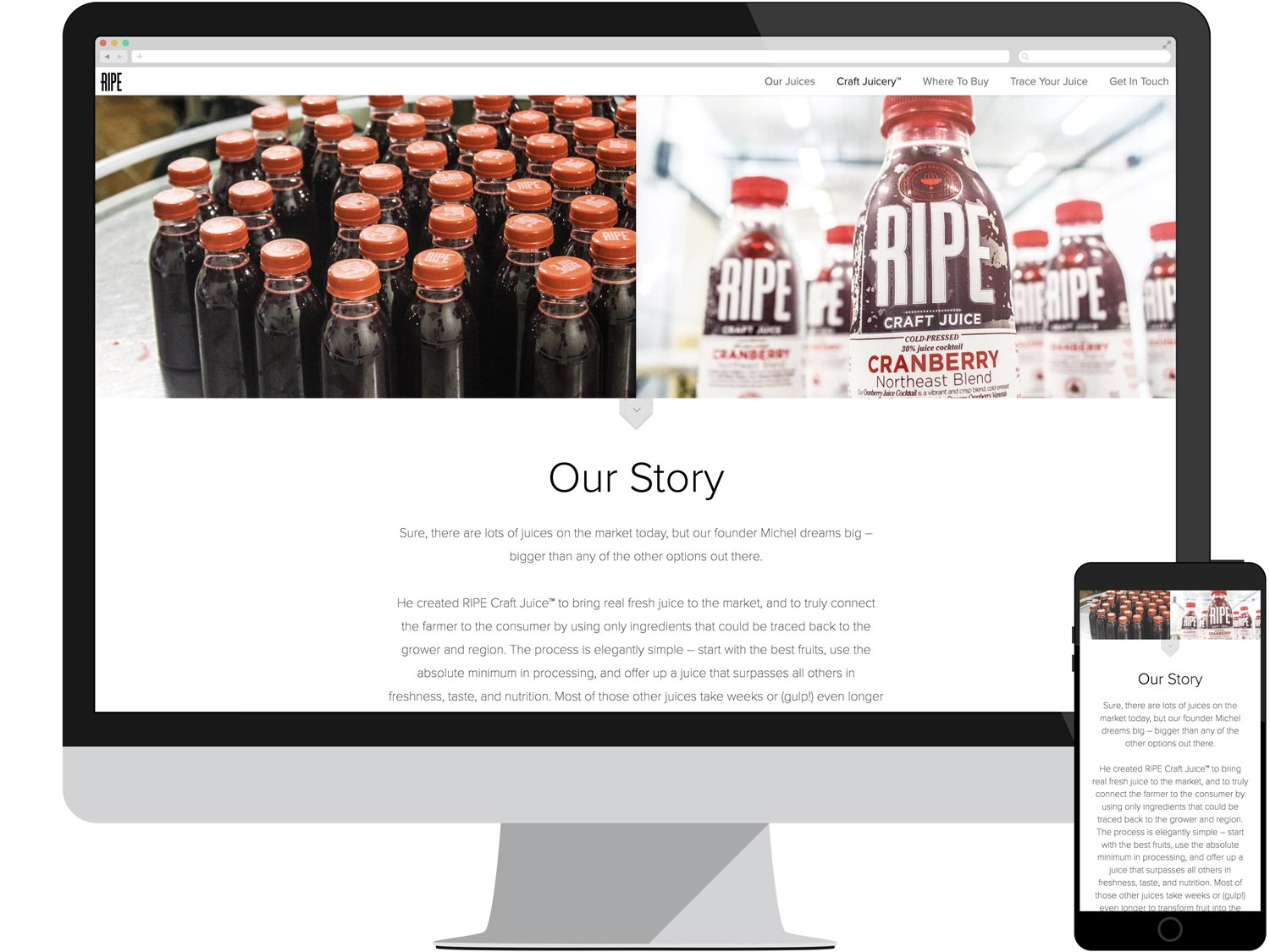 Juicery Landing Page - Our Story