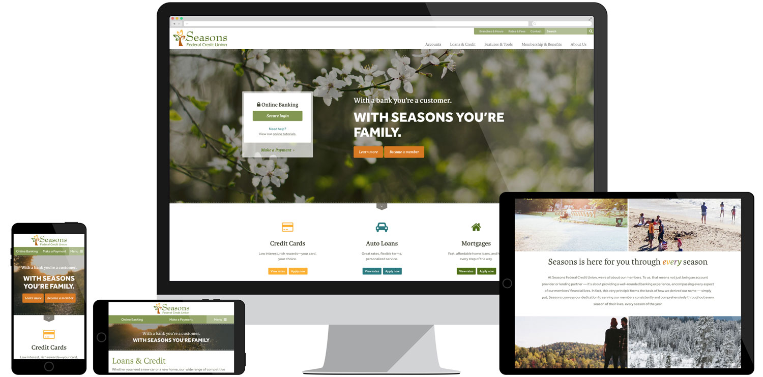 Seasons Federal Credit Union Website