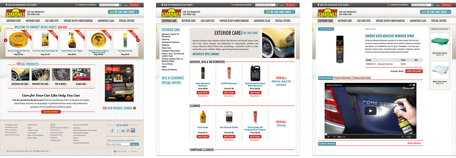 Custom eCommerce for Simoniz