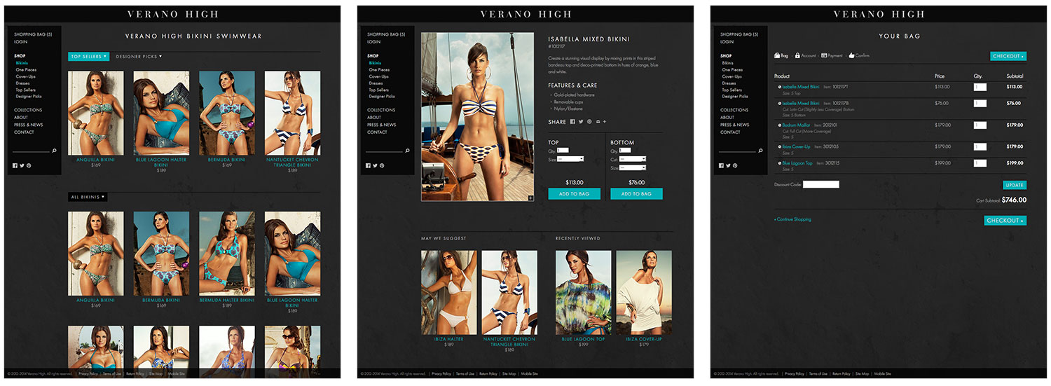 Custom eCommerce for Verano High
