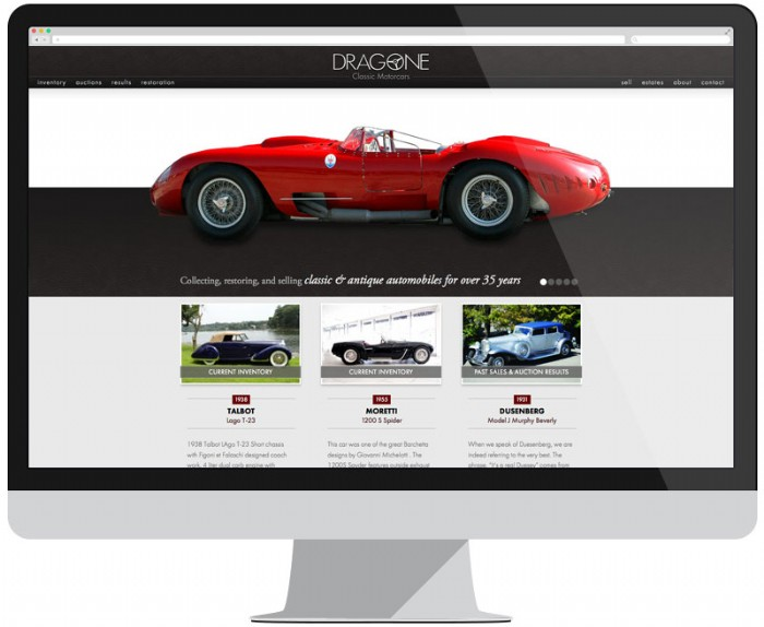 Dragone Classic Motorcars Restores Their Online Presence