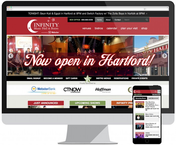 New Location and Website for Infinity Hall