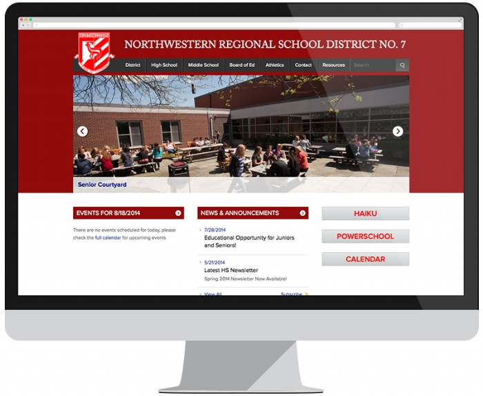 Northwestern Regional School District Gets a New Website