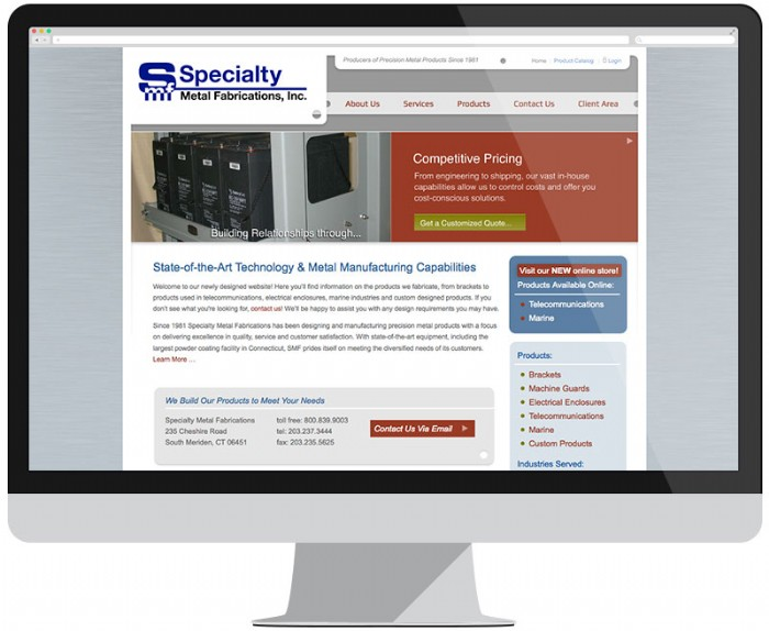 Specialty Metal Fabrications Unveils Newly Designed Website