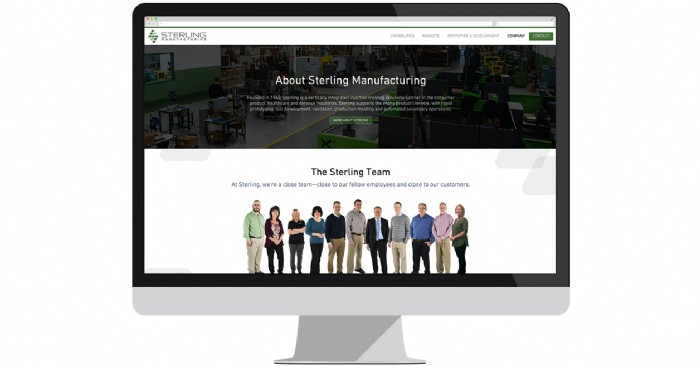 Sterling Launches New Site to Promote Precision Manufacturing Capabilities