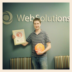 Web Solutions Names New Disc Golf Champion