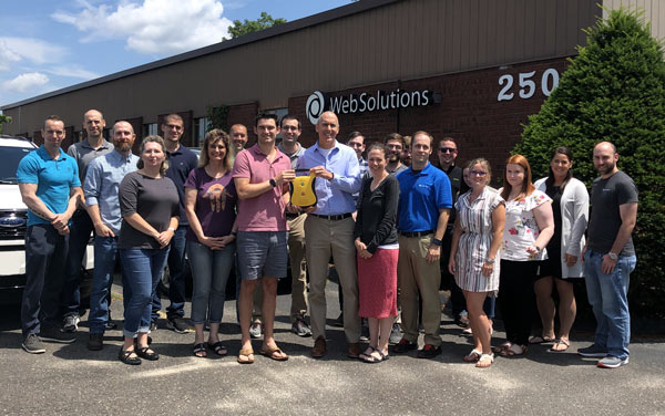 In A Heartbeat Donates AED to Web Solutions
