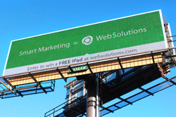 Web Solutions Launches New Billboard, Offers Free iPad