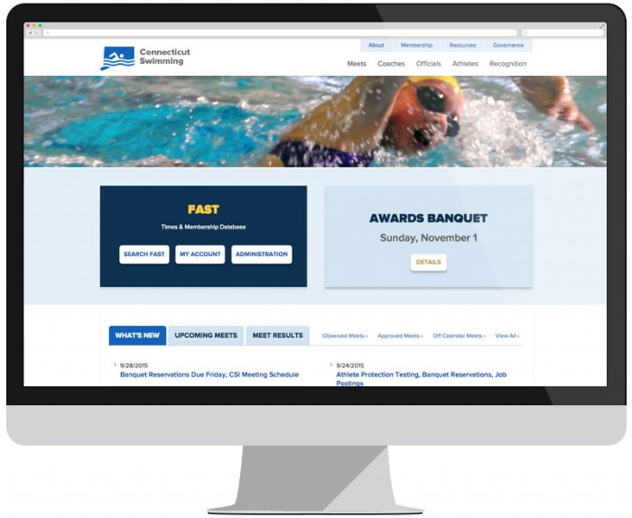 CT Swimming Makes a Splash With New Website