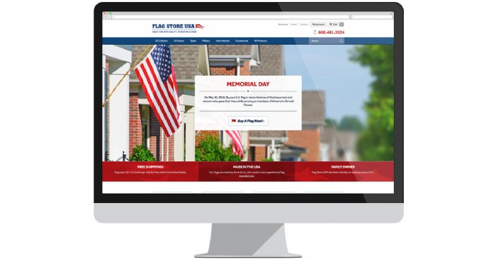 Flag Store USA Proudly Displays Flags on New Site