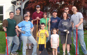 Web Solutions Helps Girls Inc. with Spring Cleaning and Gardening